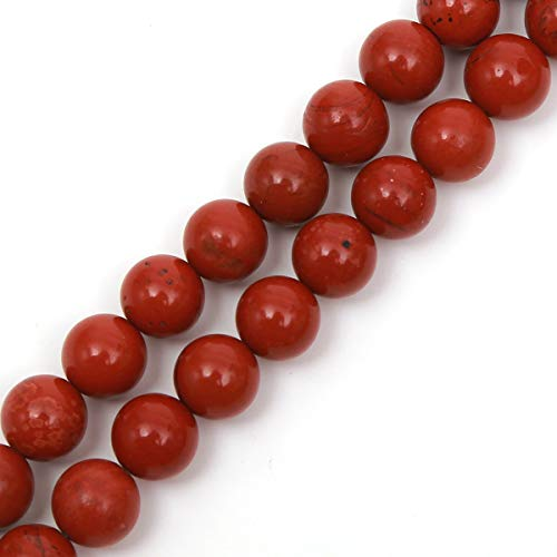 Genuine Natural Stone Beads Red Jasper Round Loose Gemstone 8mm 1 Strand 15.5