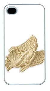 IPhone 4S Cases Harmony Blessing Angel Ornament Polycarbonate Hard Case Back Cover for iPhone 4/4S White
