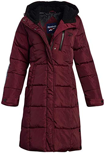 Reebok Women's Winter Jacket - Full Length Bubble Puffer Parka Jacket with Hood