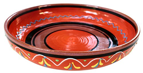 Terracotta Orange, Serving Dish - Hand Painted From Spain ()