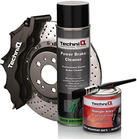 Techniq Midnight Black Gloss Brake Caliper Paint 250ml Brake Cleaner Painting Brush Amazon Co Uk Car Motorbike