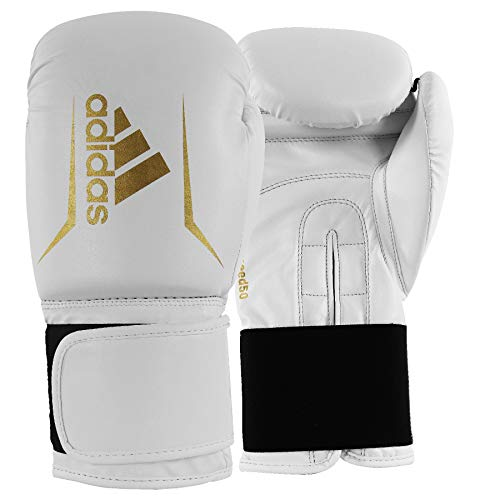adidas Speed 50 White/Gold Boxing Gloves – 10oz