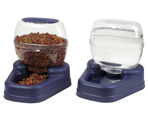 Pet Food Dispenser (Bergan Petite Gourmet Combo (Colors Vary))