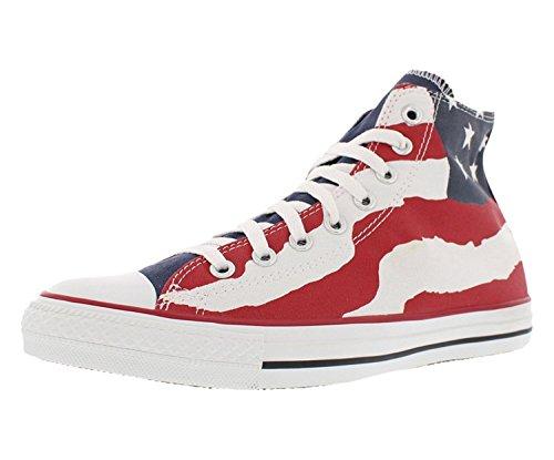 Converse Chuck Taylor American Flag Print Hi Sneakers (5 (B) M US Women/3 D(M) US - Cap Converse Print