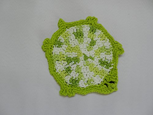 Cotton dish cloth, Green Turtle, Crocheted Turtle Dish Cloth, Kids wash cloth
