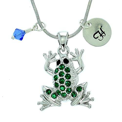 Sparkling Crystal Block Ring Chandelier: Amazon.com: Personalized Frog Pendant Green Sparkling