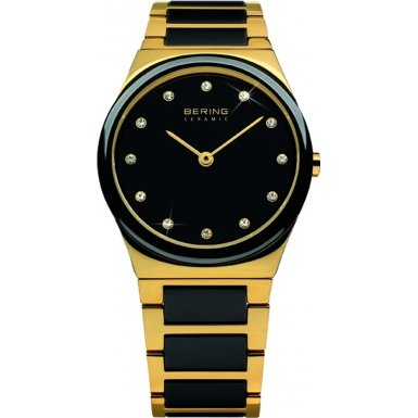 BERING Time 32230-741 Womens Ceramic Collection Watch with Stainless steel Band and scratch resistant sapphire crystal. Designed in Denmark.