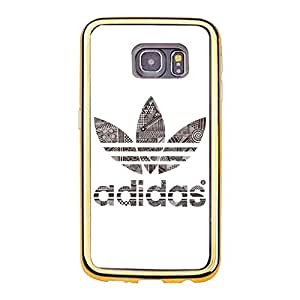 Official Theme Luxury Adidas Cover Case TPU Golden Border Series for Samsung Galaxy S6 Edge