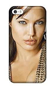 New Style JessicaBMcrae Hard Case Cover For Iphone 5/5s- Angelina Jolie