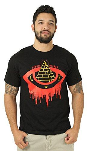 Last Kings Bleeding Eye Pryamid Men's Crewneck T-Shirt Black Size M