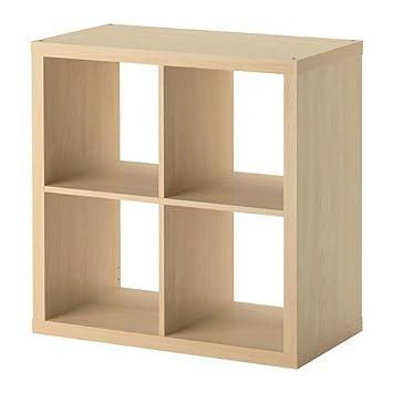 IKEA Kallax - Estantería, estantería, blanco, perfecto para cestas o cajas, birch effect, SHELVING UNIT: Amazon.es: Hogar