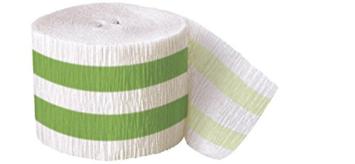 Lime Striped Witch Costumes (30ft Lime Green Striped Crepe Paper Streamers)