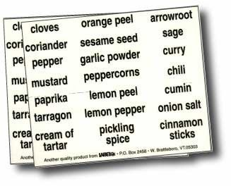 Kitchen Spice Labels (Green)