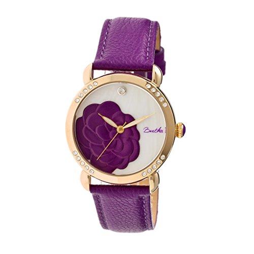 bertha-womens-bthbr4606-daphne-mop-purple-genuine-leather-strap-watch
