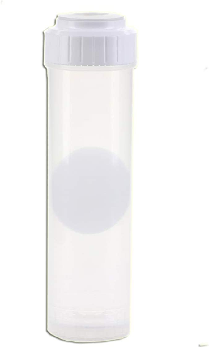 """Refillable, Empty Water Filter Cartridge Universal Slimline (2.5"""" D x 10"""" H) Clear by CuZn"""