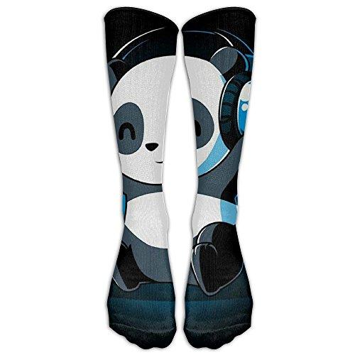 Panda Playlist Unisex Sports Socks Tube Socks Knee High Compression Sports Athletic Socks Tube Stockings Long - Playlist Panda White