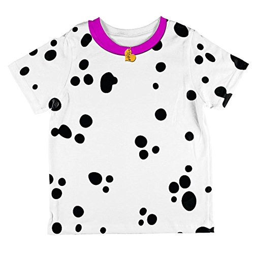 Puppy Dog Costume 4t (Valentine's Day Dog Dalmatian Costume Pink Collar Be Mine All Over Toddler T Shirt Multi 4T)