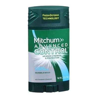 Mitchum Advanced Antiperspirant Deodorant Invisible Solid For Men - Clean Control - Oxygen Odor Control Technology - Net Wt. 2.7 OZ (76 g) Each - Pack of 3 by Mitchum