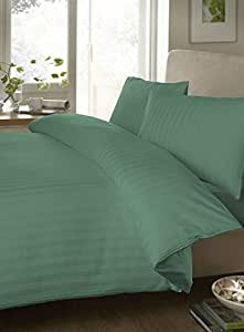 """Egyptian cotton Luxurious Fitted Sheet with 28"""" Deep Pocket 800 TC Stripe by Elegant Bedware ( Cal-King , Aqua Blue)"""