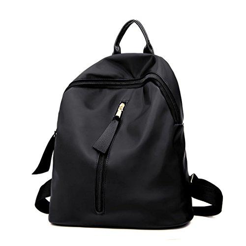 - LJL Oxford cloth shoulder bag female Korean new ladies nylon backpack canvas bag leisure bag wild tide (Color : Black)