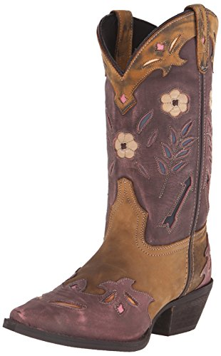 Laredo Women's Miss Kate Western Boot, Tan/Pink, 7.5 M US by Laredo
