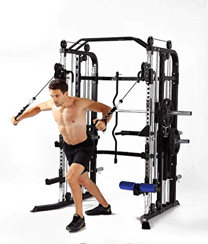 MiM USA Functional Trainer and Smith Machine Combo All in One Commercial Grade Ultimate Home Gym Strength Solution SM+FT 1001 Pro (Machine Combo)