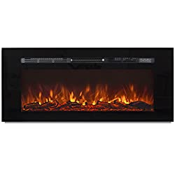 """Best Choice Products 1500W 50"""" Heat Adjustable In-Wall Recessed Electric Fireplace, Wall Mount Compatible W/ Remote Control by Best Choice Products"""