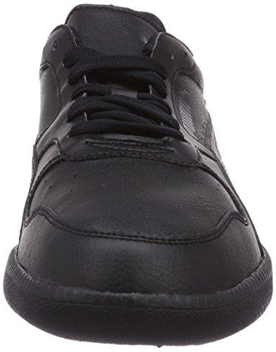 Puma Icra Trainer L - zapatilla deportiva de cuero hombre negro - Schwarz (black-black 01)