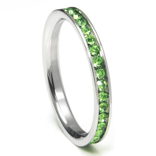 Stackable Birthstone Eternity Band - 5