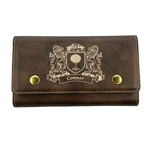 Conner Irish Coat of Arms Leather Card & Dice Set ()
