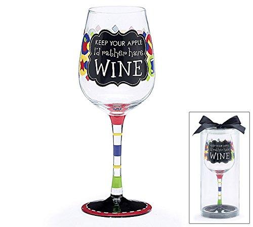 Teachers Wine Glass Apple Rather product image