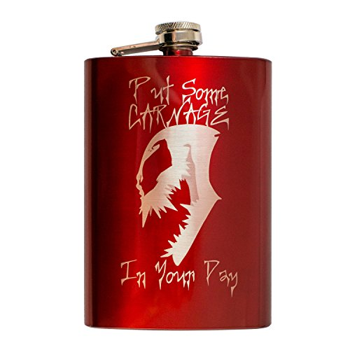 8oz RED Put Some Carnage in Your Day Flask L1]()
