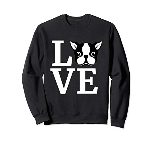 I Love My Bostie Gift for Dog Lover Boston Terrier Sweatshirt (Terrier Dog Sweatshirt)