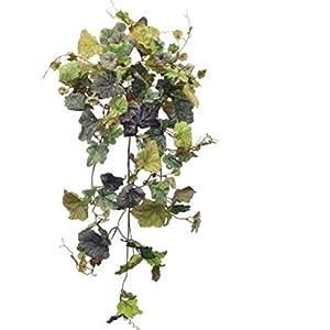 "32"" Frosted Summer Multi-hued Grape Ivy Hanging Bush Green Greenery Filler Silk Wedding Flowers Plant Decor 49"