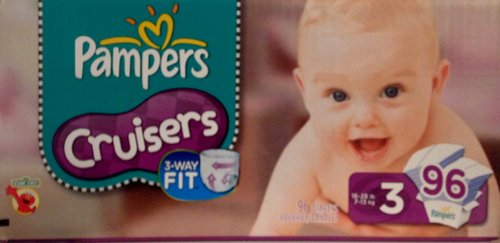 Pampers Cruisers, Size 3, 96 Count