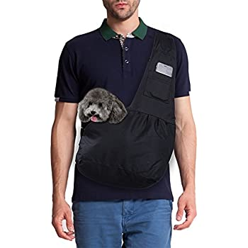 Magift Adjustable Front Pet Sling Carrier for Dogs Cats Small Animals under 6Lbs, Black