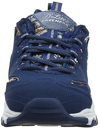 Skechers floral Nvy Blu D'lites navy Donna Sneaker Days rqwqxa5C