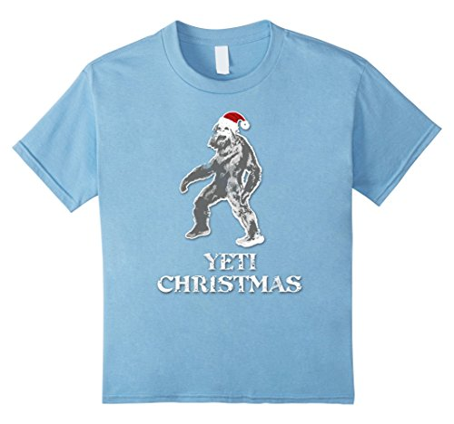 Yeti Hat For Kids Or Adult (Kids Funny Merry Yeti Christmas Santa Hat T-Shirt 10 Baby Blue)