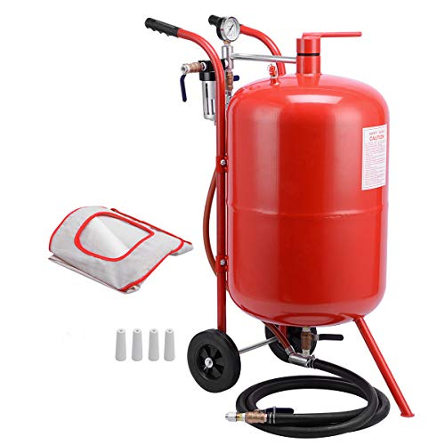 XtremepowerUS 20-Gallons Air Sand Blaster Handle with Ceramic Tips Sand