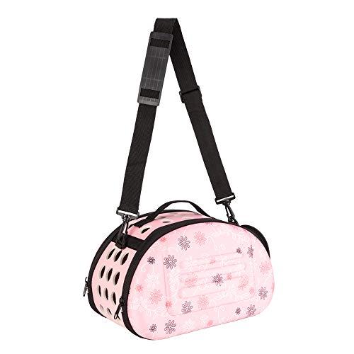 Crownstar Pet Carrier Soft-Sided Handbag Carrier Comfort Pet Dog Travel Carry Bag for Small Cat Puppy Bag EVA Polymerization Pink (Pink)