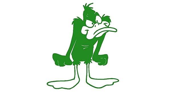 Duffy Duck-Pegatinas Prespaziato-Looney Tunes-- 10 cm, color Verde: Amazon.es: Coche y moto