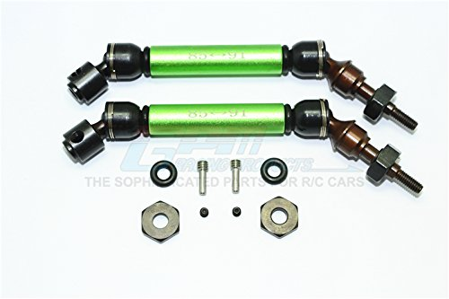 - Traxxas Slash 4X4 Upgrade Parts Steel+Aluminum Front CVD Drive Shaft With 12mmX6mm Wheel Hex - 1Pr Set Green