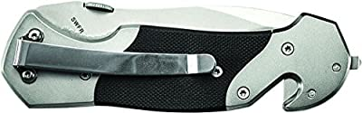 Smith & Wesson 1st Response SWFRS Liner Lock Folding Knife Partially Serrated Drop Point Blade Steel Handle from Smith & Wesson
