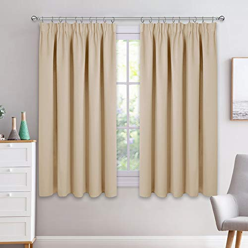 PONY DANCE Bedroom Window Curtains - Short Pencil...