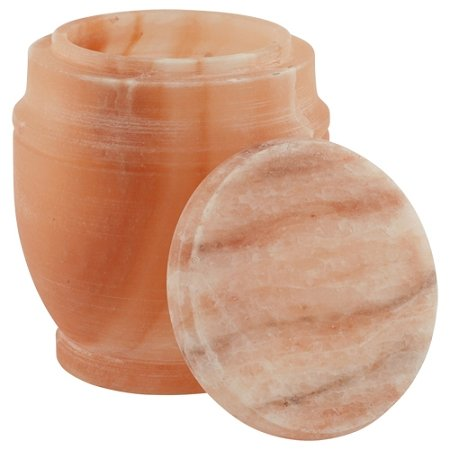 Himalayan Salt Biodegradable Urn, Adult Sized Eco Urn for Ashes, Earth Friendly Cremation Urn, Natural Orange Color