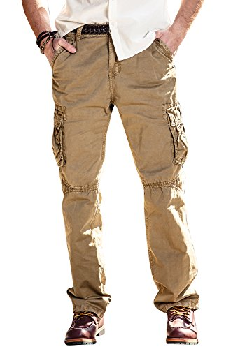 Men's Outdoor Woodland Military Tactical Cargo Pants Size 34 Inseam 32 inches