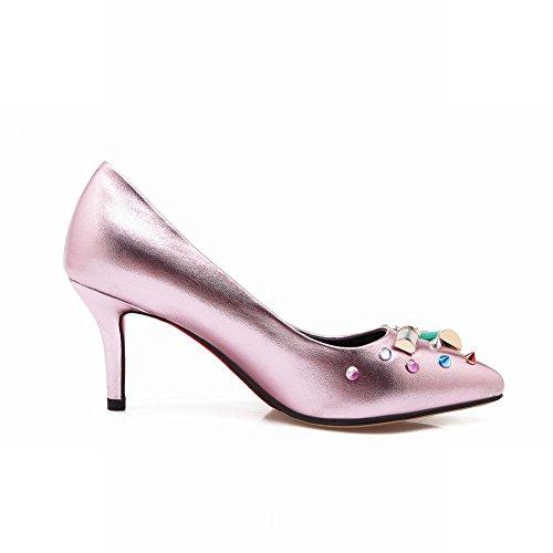 MissSaSa Damen modern und elegant high-heel Low-cut Pointed Toe Pumps mit Stiletto Pink