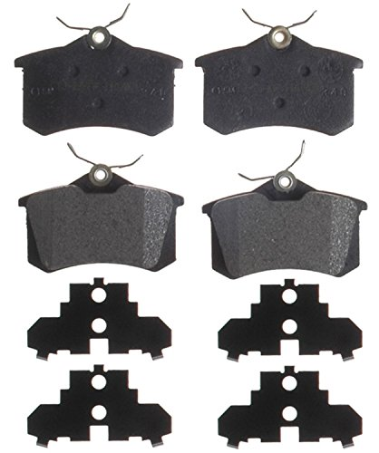ACDelco 14D340AM Advantage Semi-Metallic Rear Disc Brake Pad Set with Wear Sensor ()