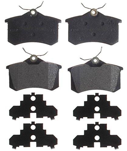 ACDelco 14D340AM Advantage Semi-Metallic Rear Disc Brake Pad Set with Wear Sensor