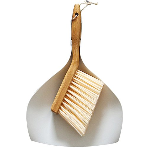 Master Vacuum Switch (Huibot Dustpan and Brush Set Comfort Grip Multi Function Broom with Bamboo Handle)